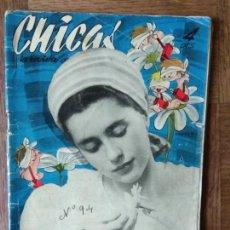 Tebeos: CHICAS Nº 94 DE 1952, LA REVISTA DE LOS 17 AÑOS- NOVELAS, ILUSTRACION, MODA, TEBEOS, ACTUALIDAD.... Lote 149846114