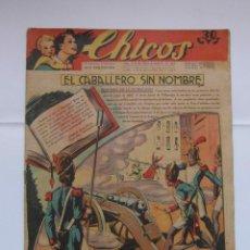 Tebeos: CHICOS Nº 215 AÑO V 30 DE MAYO DE 1942. EL CABALLERO SIN NOMBRE. Lote 156039118