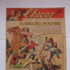 Tebeos: CHICOS Nº 216 AÑO V 10 DE JUNIO DE 1942. EL CABALLERO SIN NOMBRE. Lote 156039430