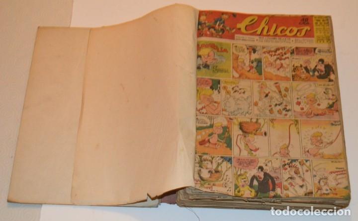 Tebeos: CHICOS - LOTE 60 TEBEOS SEGUIDOS - 1943 - DESDE EL 274 AL 334 COMPLETOS - EN TOMO - CONSUELO GIL - Foto 4 - 174060785