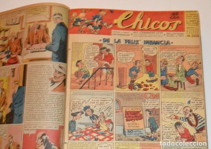 Tebeos: CHICOS - LOTE 60 TEBEOS SEGUIDOS - 1943 - DESDE EL 274 AL 334 COMPLETOS - EN TOMO - CONSUELO GIL - Foto 7 - 174060785