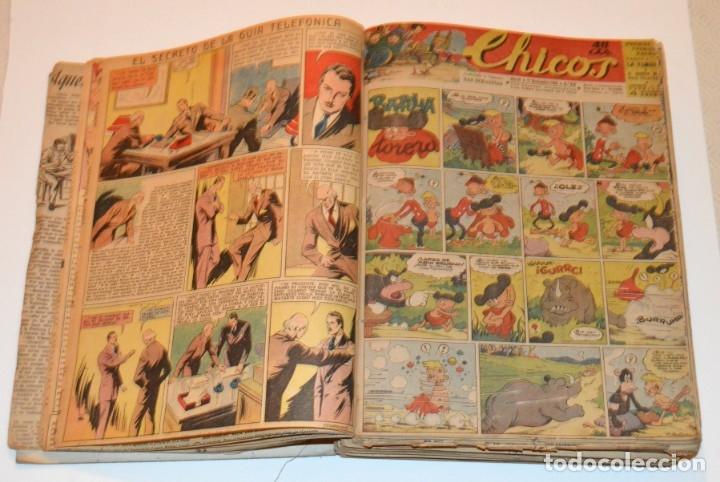 Tebeos: CHICOS - LOTE 60 TEBEOS SEGUIDOS - 1943 - DESDE EL 274 AL 334 COMPLETOS - EN TOMO - CONSUELO GIL - Foto 9 - 174060785