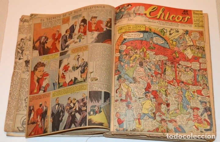 Tebeos: CHICOS - LOTE 60 TEBEOS SEGUIDOS - 1943 - DESDE EL 274 AL 334 COMPLETOS - EN TOMO - CONSUELO GIL - Foto 11 - 174060785