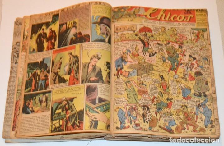 Tebeos: CHICOS - LOTE 60 TEBEOS SEGUIDOS - 1943 - DESDE EL 274 AL 334 COMPLETOS - EN TOMO - CONSUELO GIL - Foto 15 - 174060785