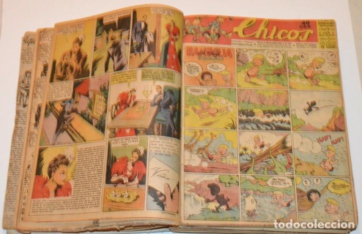 Tebeos: CHICOS - LOTE 60 TEBEOS SEGUIDOS - 1943 - DESDE EL 274 AL 334 COMPLETOS - EN TOMO - CONSUELO GIL - Foto 16 - 174060785