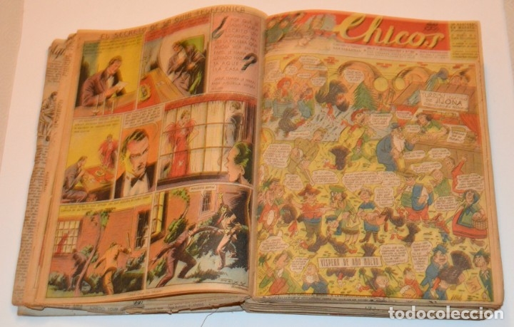 Tebeos: CHICOS - LOTE 60 TEBEOS SEGUIDOS - 1943 - DESDE EL 274 AL 334 COMPLETOS - EN TOMO - CONSUELO GIL - Foto 17 - 174060785