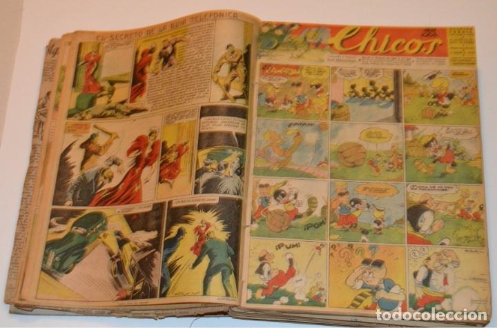 Tebeos: CHICOS - LOTE 60 TEBEOS SEGUIDOS - 1943 - DESDE EL 274 AL 334 COMPLETOS - EN TOMO - CONSUELO GIL - Foto 19 - 174060785