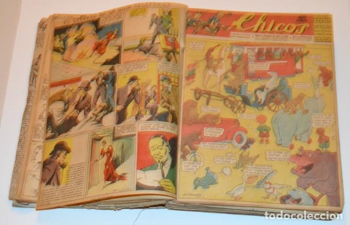 Tebeos: CHICOS - LOTE 60 TEBEOS SEGUIDOS - 1943 - DESDE EL 274 AL 334 COMPLETOS - EN TOMO - CONSUELO GIL - Foto 20 - 174060785