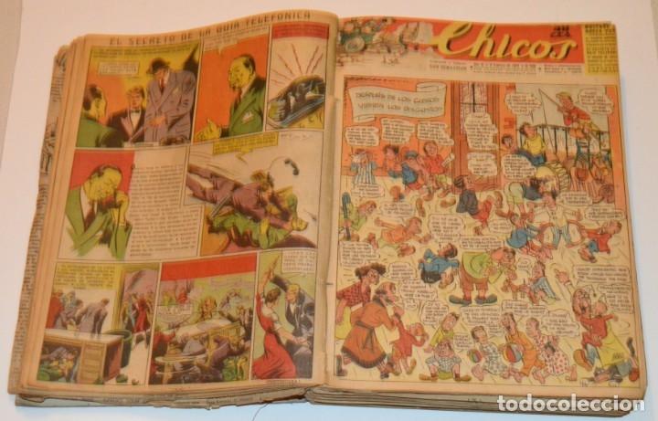 Tebeos: CHICOS - LOTE 60 TEBEOS SEGUIDOS - 1943 - DESDE EL 274 AL 334 COMPLETOS - EN TOMO - CONSUELO GIL - Foto 23 - 174060785