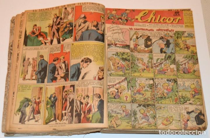 Tebeos: CHICOS - LOTE 60 TEBEOS SEGUIDOS - 1943 - DESDE EL 274 AL 334 COMPLETOS - EN TOMO - CONSUELO GIL - Foto 24 - 174060785