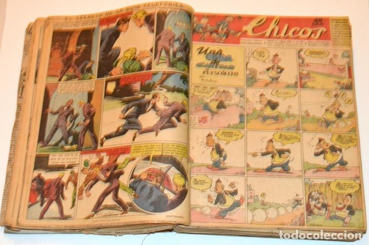 Tebeos: CHICOS - LOTE 60 TEBEOS SEGUIDOS - 1943 - DESDE EL 274 AL 334 COMPLETOS - EN TOMO - CONSUELO GIL - Foto 26 - 174060785