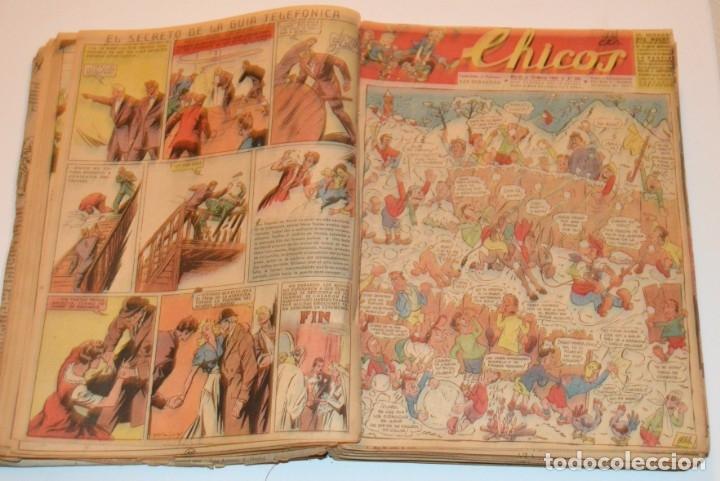 Tebeos: CHICOS - LOTE 60 TEBEOS SEGUIDOS - 1943 - DESDE EL 274 AL 334 COMPLETOS - EN TOMO - CONSUELO GIL - Foto 29 - 174060785