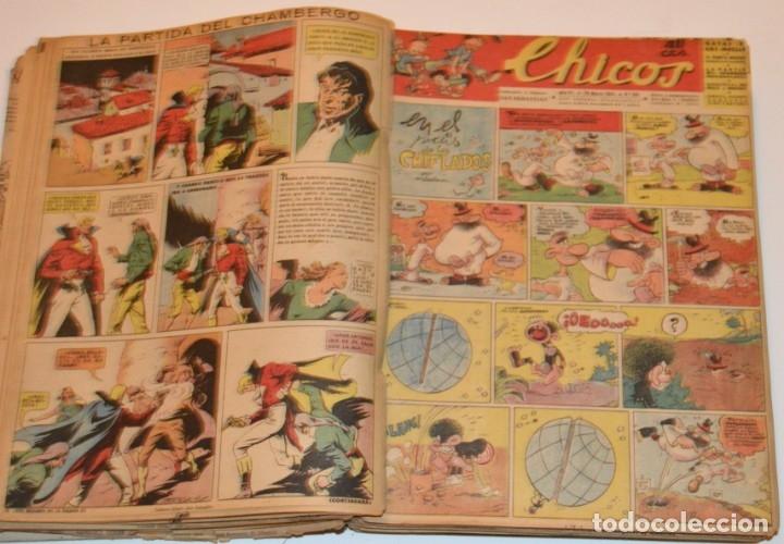 Tebeos: CHICOS - LOTE 60 TEBEOS SEGUIDOS - 1943 - DESDE EL 274 AL 334 COMPLETOS - EN TOMO - CONSUELO GIL - Foto 31 - 174060785