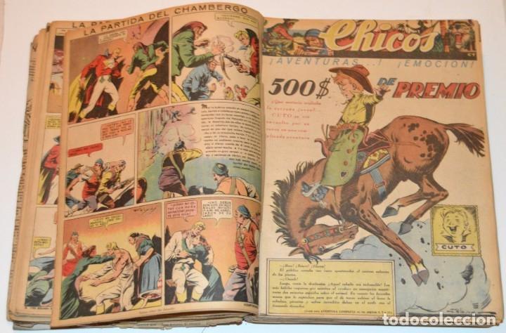 Tebeos: CHICOS - LOTE 60 TEBEOS SEGUIDOS - 1943 - DESDE EL 274 AL 334 COMPLETOS - EN TOMO - CONSUELO GIL - Foto 32 - 174060785