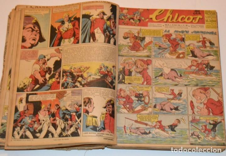 Tebeos: CHICOS - LOTE 60 TEBEOS SEGUIDOS - 1943 - DESDE EL 274 AL 334 COMPLETOS - EN TOMO - CONSUELO GIL - Foto 35 - 174060785