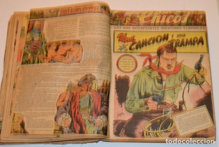 Tebeos: CHICOS - LOTE 60 TEBEOS SEGUIDOS - 1943 - DESDE EL 274 AL 334 COMPLETOS - EN TOMO - CONSUELO GIL - Foto 38 - 174060785