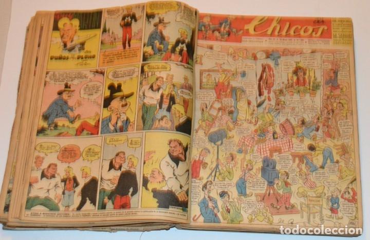 Tebeos: CHICOS - LOTE 60 TEBEOS SEGUIDOS - 1943 - DESDE EL 274 AL 334 COMPLETOS - EN TOMO - CONSUELO GIL - Foto 39 - 174060785