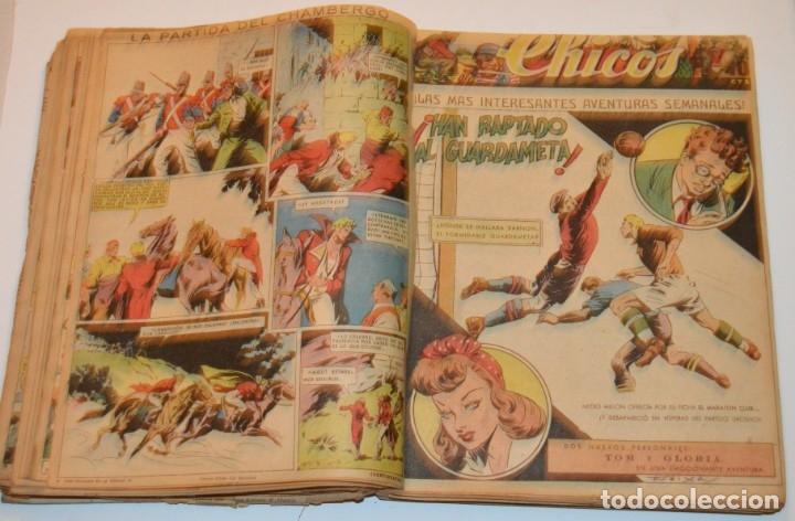 Tebeos: CHICOS - LOTE 60 TEBEOS SEGUIDOS - 1943 - DESDE EL 274 AL 334 COMPLETOS - EN TOMO - CONSUELO GIL - Foto 40 - 174060785
