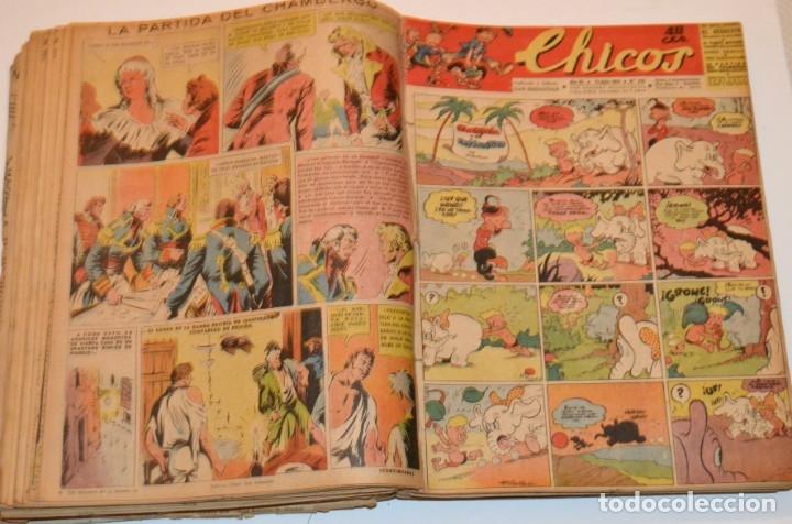 Tebeos: CHICOS - LOTE 60 TEBEOS SEGUIDOS - 1943 - DESDE EL 274 AL 334 COMPLETOS - EN TOMO - CONSUELO GIL - Foto 47 - 174060785
