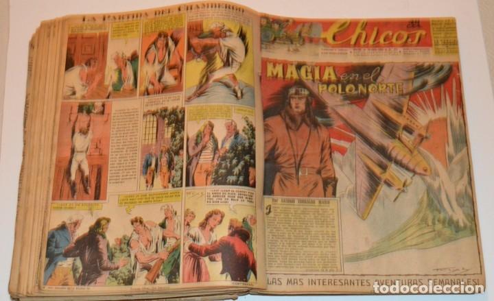 Tebeos: CHICOS - LOTE 60 TEBEOS SEGUIDOS - 1943 - DESDE EL 274 AL 334 COMPLETOS - EN TOMO - CONSUELO GIL - Foto 48 - 174060785