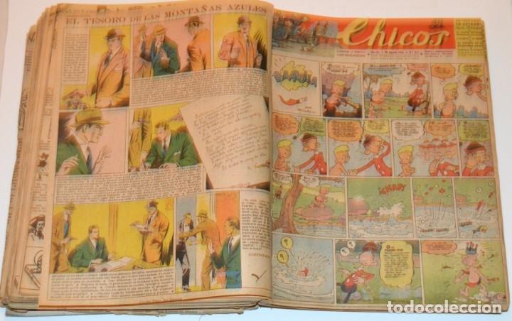 Tebeos: CHICOS - LOTE 60 TEBEOS SEGUIDOS - 1943 - DESDE EL 274 AL 334 COMPLETOS - EN TOMO - CONSUELO GIL - Foto 51 - 174060785