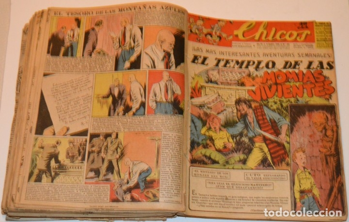 Tebeos: CHICOS - LOTE 60 TEBEOS SEGUIDOS - 1943 - DESDE EL 274 AL 334 COMPLETOS - EN TOMO - CONSUELO GIL - Foto 53 - 174060785