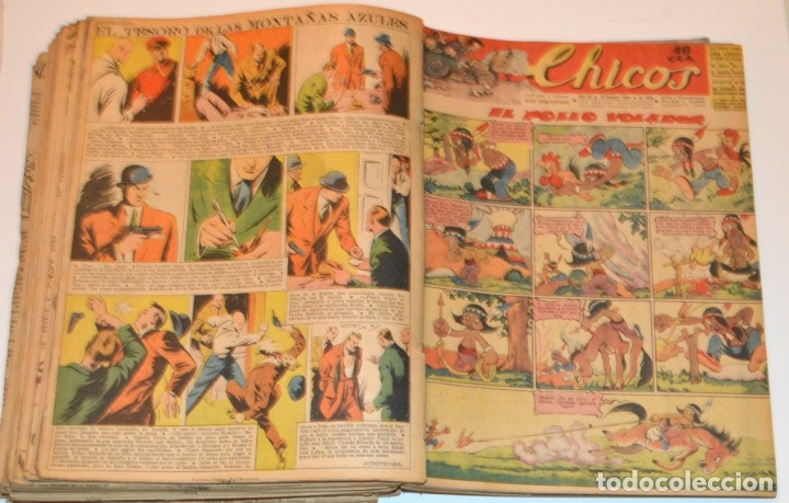 Tebeos: CHICOS - LOTE 60 TEBEOS SEGUIDOS - 1943 - DESDE EL 274 AL 334 COMPLETOS - EN TOMO - CONSUELO GIL - Foto 54 - 174060785