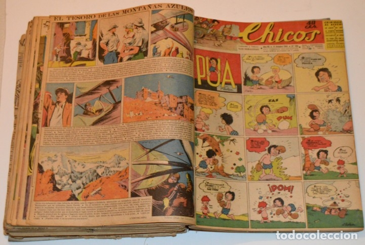 Tebeos: CHICOS - LOTE 60 TEBEOS SEGUIDOS - 1943 - DESDE EL 274 AL 334 COMPLETOS - EN TOMO - CONSUELO GIL - Foto 59 - 174060785