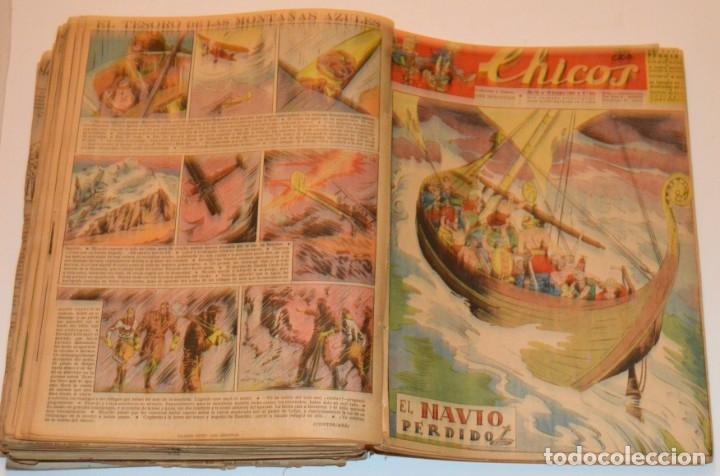 Tebeos: CHICOS - LOTE 60 TEBEOS SEGUIDOS - 1943 - DESDE EL 274 AL 334 COMPLETOS - EN TOMO - CONSUELO GIL - Foto 60 - 174060785