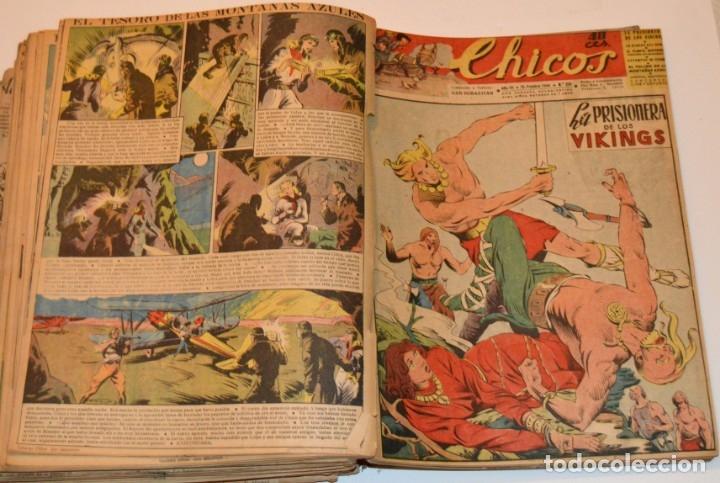 Tebeos: CHICOS - LOTE 60 TEBEOS SEGUIDOS - 1943 - DESDE EL 274 AL 334 COMPLETOS - EN TOMO - CONSUELO GIL - Foto 61 - 174060785
