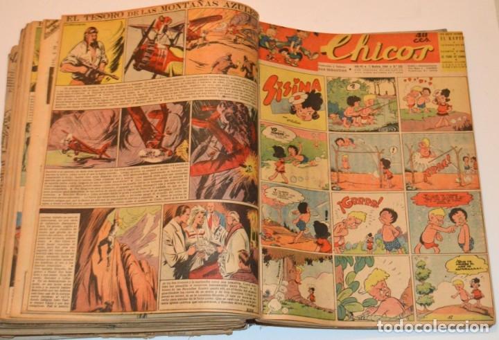 Tebeos: CHICOS - LOTE 60 TEBEOS SEGUIDOS - 1943 - DESDE EL 274 AL 334 COMPLETOS - EN TOMO - CONSUELO GIL - Foto 62 - 174060785