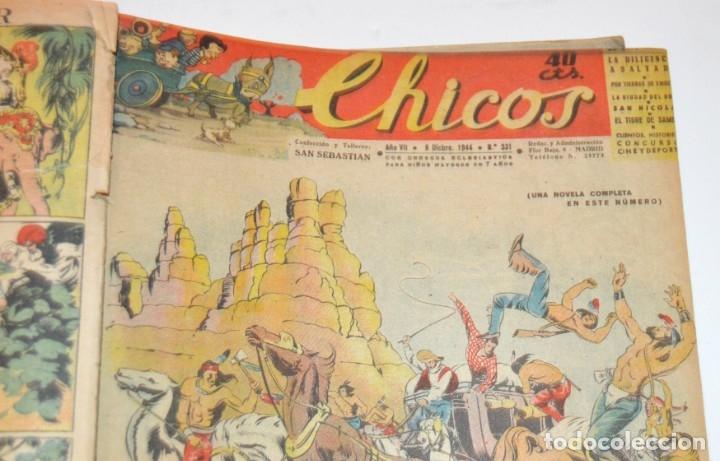 Tebeos: CHICOS - LOTE 60 TEBEOS SEGUIDOS - 1943 - DESDE EL 274 AL 334 COMPLETOS - EN TOMO - CONSUELO GIL - Foto 66 - 174060785