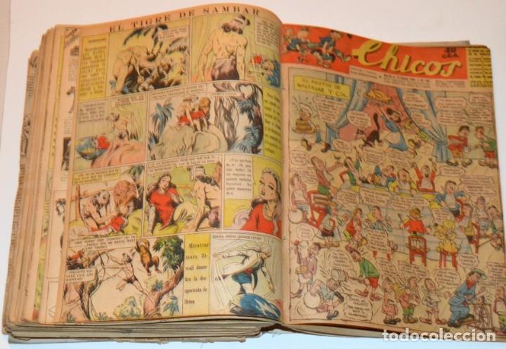 Tebeos: CHICOS - LOTE 60 TEBEOS SEGUIDOS - 1943 - DESDE EL 274 AL 334 COMPLETOS - EN TOMO - CONSUELO GIL - Foto 67 - 174060785