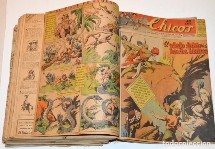 Tebeos: CHICOS - LOTE 60 TEBEOS SEGUIDOS - 1943 - DESDE EL 274 AL 334 COMPLETOS - EN TOMO - CONSUELO GIL - Foto 68 - 174060785