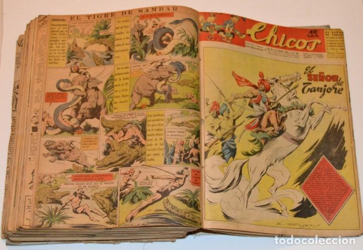 Tebeos: CHICOS - LOTE 60 TEBEOS SEGUIDOS - 1943 - DESDE EL 274 AL 334 COMPLETOS - EN TOMO - CONSUELO GIL - Foto 69 - 174060785
