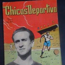 Tebeos: ANTIGUO TEBEO , CHICOS DEPORTIVO NÚMERO 52 ,AÑO 1952 , VER FOTOS. Lote 175689028