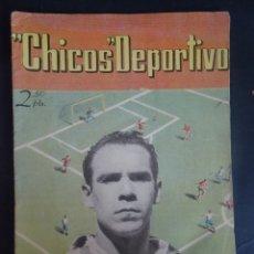Tebeos: ANTIGUO TEBEO , CHICOS DEPORTIVO NÚMERO 51 ,AÑO 1952 , VER FOTOS. Lote 175692010