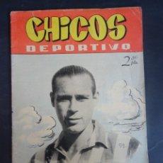Tebeos: ANTIGUO TEBEO , CHICOS DEPORTIVO NÚMERO 59 ,AÑO 1952 , VER FOTOS. Lote 175692418