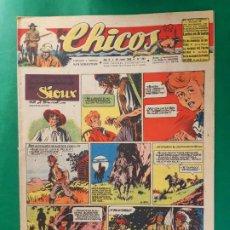 Tebeos: CHICOS-Nº392- AÑO 1946-LEER DESCRIPCIÓN.. Lote 198552712