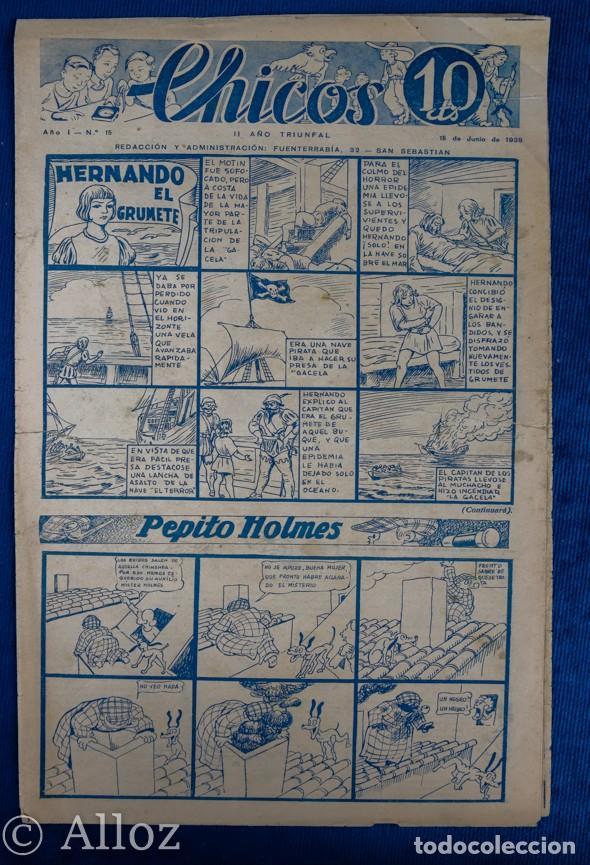 TEBEO CHICOS.Nº15....15 DE JUNIO DE 1938 (Tebeos y Comics - Consuelo Gil)