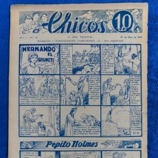 Tebeos: TEBEO CHICOS..Nº12/ MAYO 1938. Lote 205301065