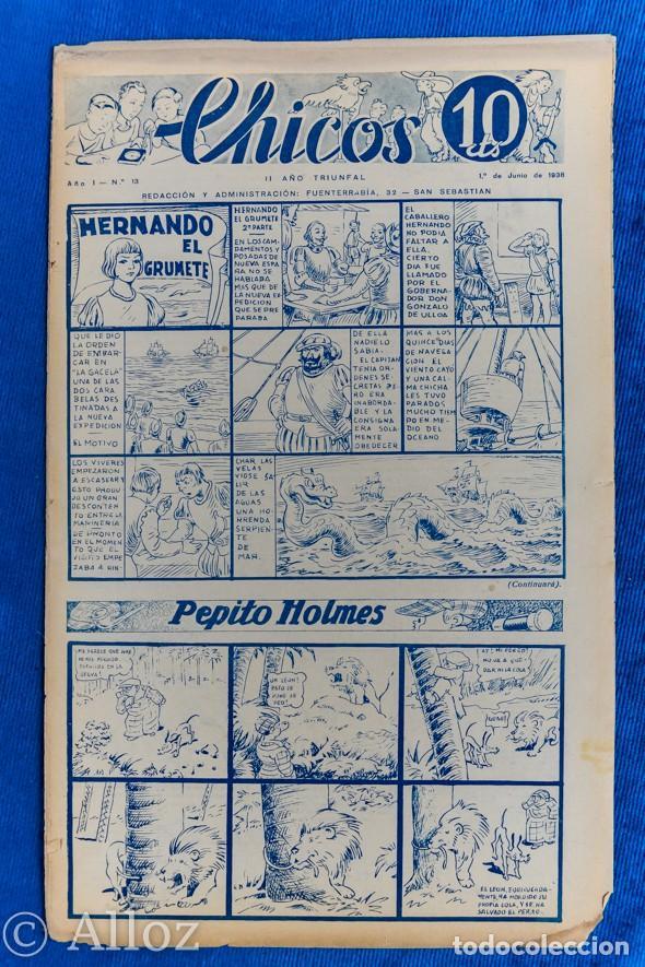 TEBEO CHICOS..Nº13 / JUNIO 1938 (Tebeos y Comics - Consuelo Gil)