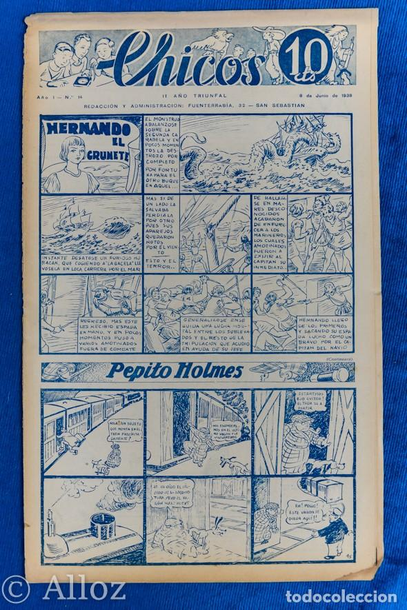 TEBEO CHICOS..Nº14 / JUNIO 1938 (Tebeos y Comics - Consuelo Gil)