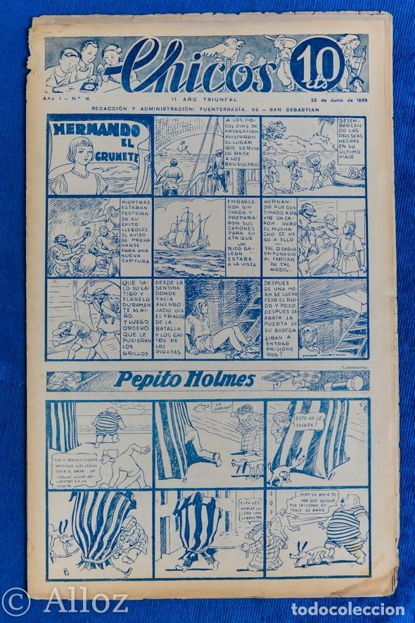 TEBEO CHICOS..Nº16 / JUNIO 1938 (Tebeos y Comics - Consuelo Gil)
