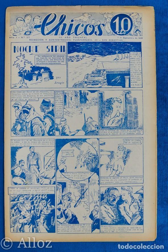 TEBEO CHICOS..Nº27 / SEPTIEMBRE 1938 (RESERVADO) (Tebeos y Comics - Consuelo Gil)