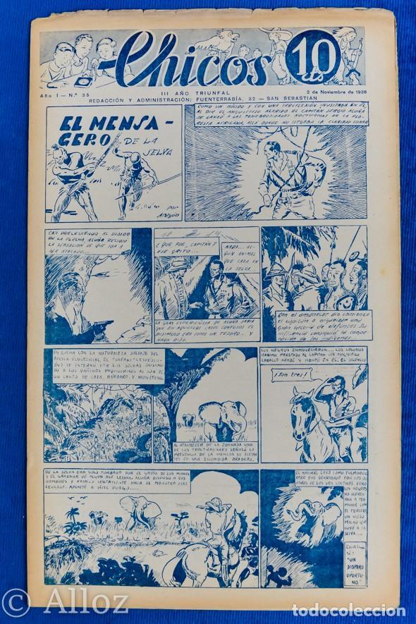 TEBEO CHICOS..Nº 35 / NOVIEMBRE 1938 (Tebeos y Comics - Consuelo Gil)