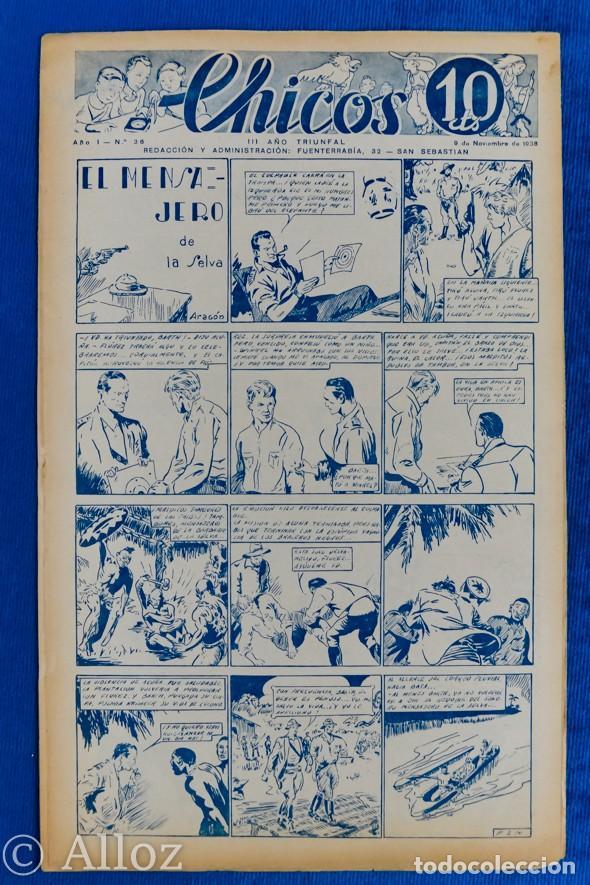 TEBEO CHICOS..Nº 36 / NOVIEMBRE 1938 (Tebeos y Comics - Consuelo Gil)
