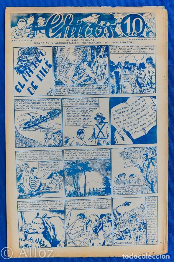 TEBEO CHICOS..Nº 37 / NOVIEMBRE 1938 (Tebeos y Comics - Consuelo Gil)