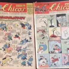 Tebeos: TEBEOS CHICOS. 10 EJEMPLARES ORIGINALES. NÚMEROS 418 A 427. ENERO A MARZO DE 1947. Lote 209014948