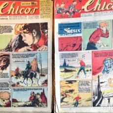 Tebeos: TEBEOS CHICOS. 10 EJEMPLARES, NÚMEROS 438 A 447. MAYO/JULIO 1947. Lote 209017210